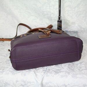 Dooney & Bourke Bags - DOONEY AND BOURKE WAKEFIELD TASSEL TOTE PLUM WINE